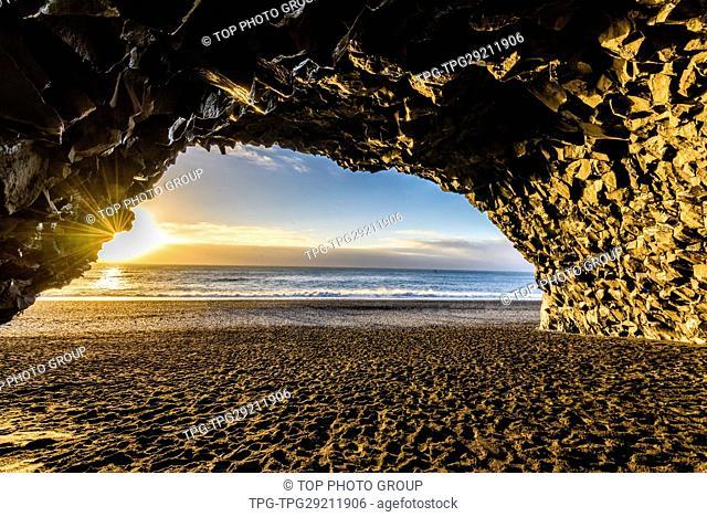 Seaside cave;Iceland