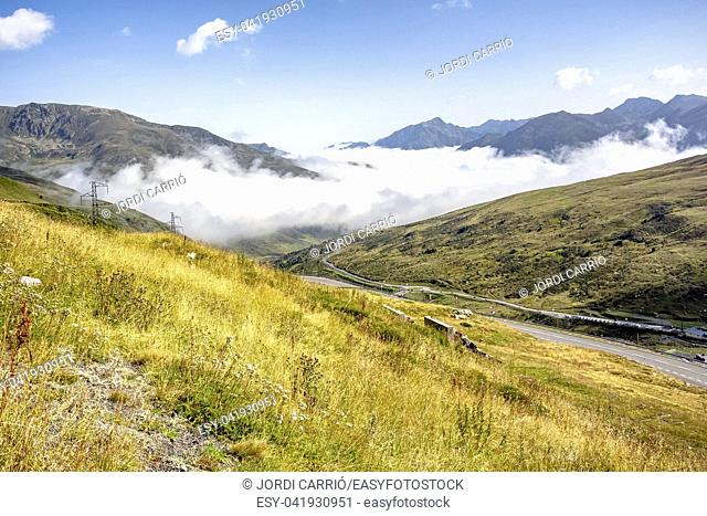 He is already dissipating the fog in the high mountains of Envalira in Andorra