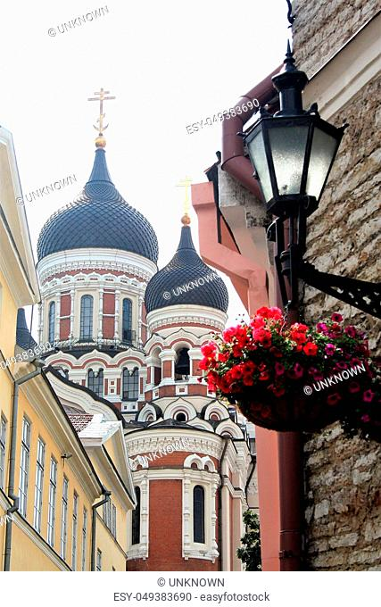 TALLINN ESTONIA - ON 07/25/2009 - alexander nevskij cathedral in the medieval town of Tallinn, Estonia