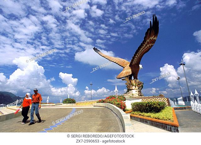 Eagle Square, Dataran Lang is one of Langkawiâ. . s best known attractions. Kuah, Langkawi Island, Kedah, Malaysia