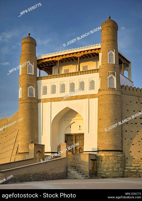Uzbekistan , Bukhara City, (W. H. ), Ark Fortress, Western Gate
