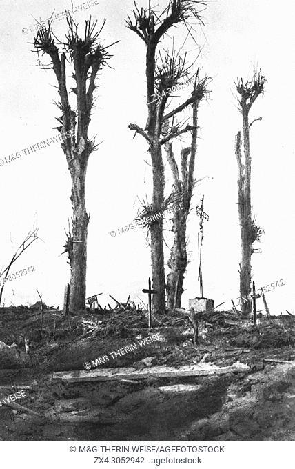 Destroyed Pressoir calvary, 1916, France
