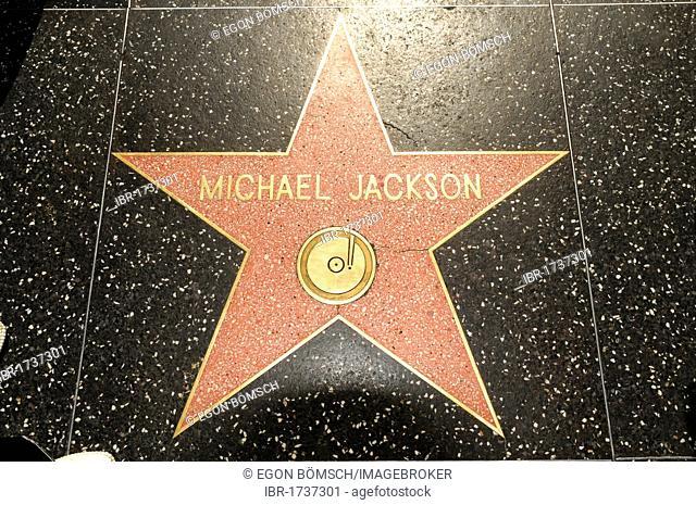 Walk of Fame star, Michael Jackson, Hollywood Boulevard, Los Angeles, California, USA