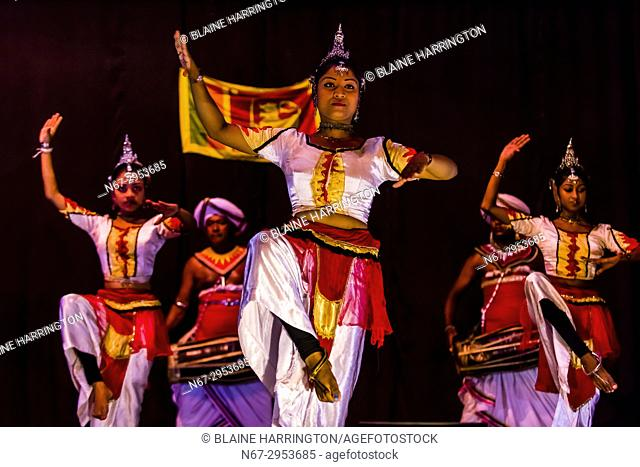 """""""""""Dances of Sri Lanka"""" cultural performance, Kandy, Central Province, Sri Lanka"