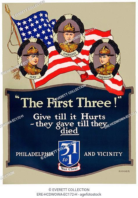 WORLD WAR I War Chest poster art, ca. 1915