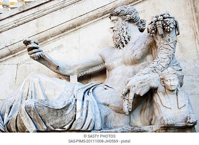 Low angle view of a statue, Vittorio Emanuele Monument, Piazza Venezia, Rome, Lazio, Italy