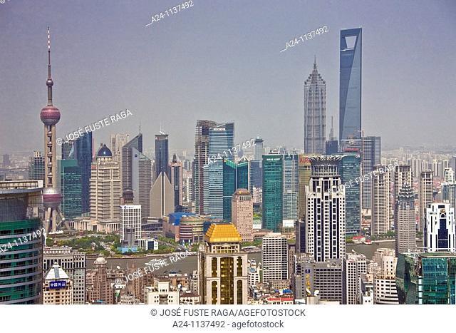 China-May 2010 Shanghai City Shanghai City Skyline