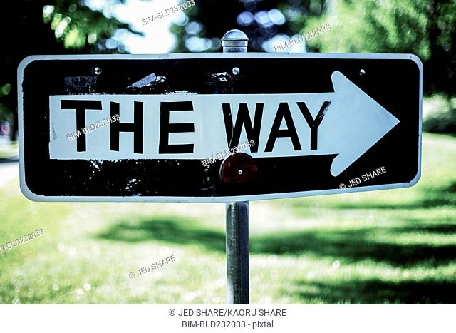 One way sign change to the way