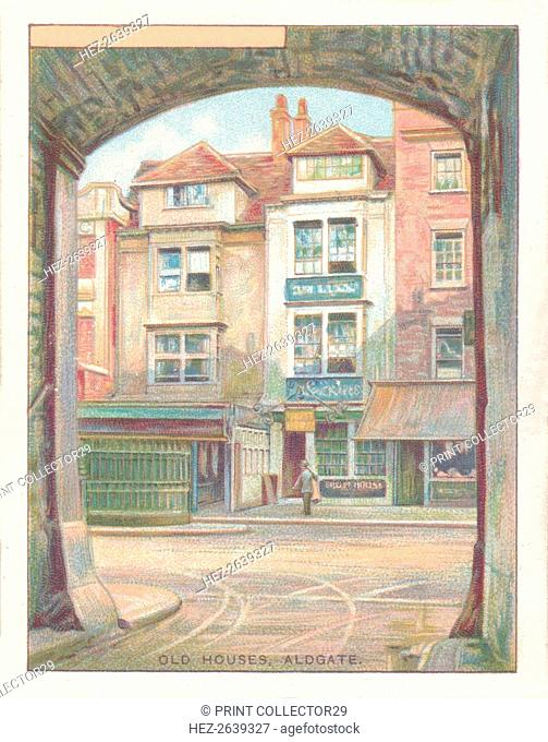 'Old Houses, Aldgate', 1929. Artist: Unknown