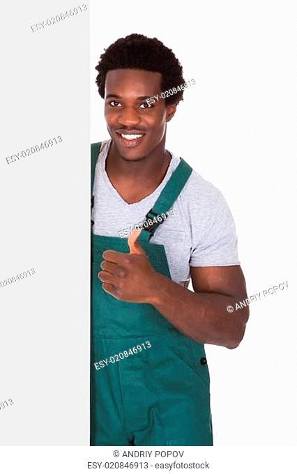 Gardener Holding Blank Card