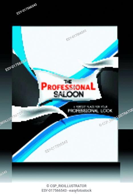 Professional Saloon Flyer Vector