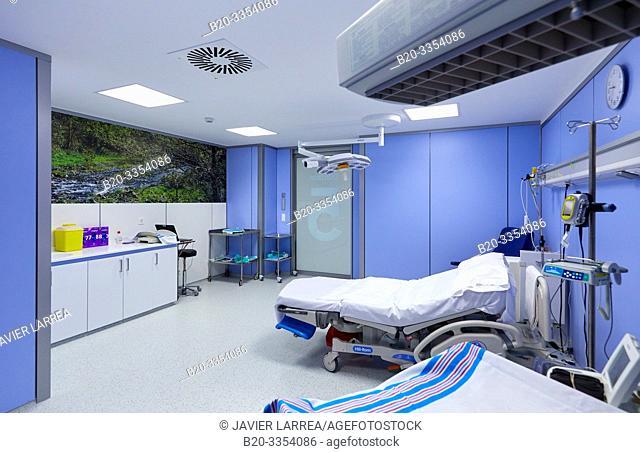Delivery room, Maternity ward, Hospital Donostia, San Sebastian, Gipuzkoa, Basque Country, Spain