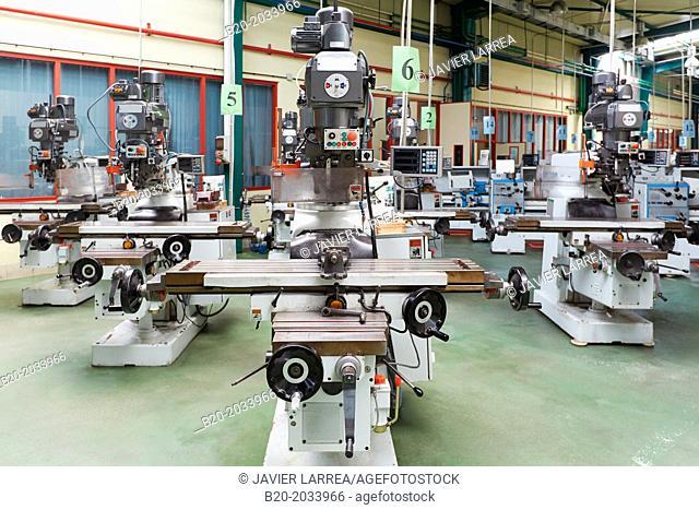 Machine tool for training students. IMH. Institute of Machine Tools. Elgoibar. Gipuzkoa. Basque Country. Spain
