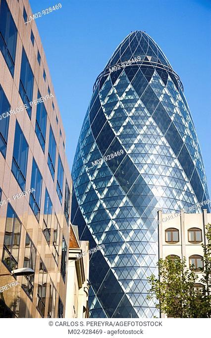 Gherkin Building, The City, London, UK