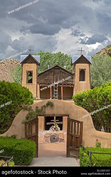 Chimayo, New Mexico - The Christ of Esquipulas Chapel at El Santuario de Chimayo. The Santuario is a Roman Catholic pilgrimage shrine in the mountains of...