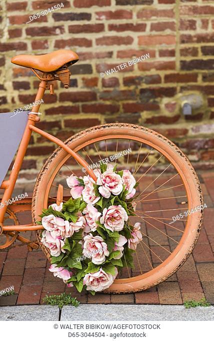 USA, District of Columbia, Washington, Georgetown, painted bicycle