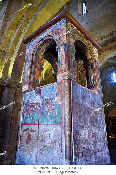 Pictures & images of the 17th century ciborium under which the robe of Jesus is said to have been buried. The Eastern Orthodox Georgian Svetitskhoveli Cathedral...
