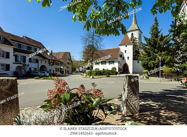 Spring day in Muttenz, canton Basel-Country, Switzerland