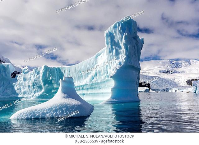 Iceberg detail at Danco Island, Errera Channel, Western side of the Antarctic Peninsula, Antarctica