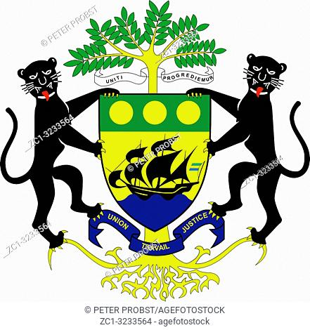 National coat of arms of the Gabonese Republic