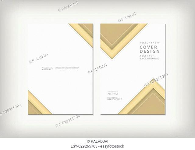 Brochure template layout, cover design annual report, magazine, flyer or booklet in A4 with blue geometric shapes zigzag background