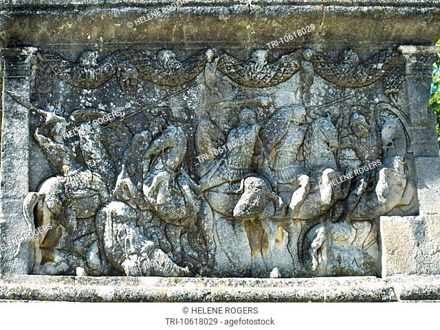 Glanum St Remy Provence France Cenotaph Of Julii Northern Relief Shows Cavalry Fight Maybe Iliad Mausoleum Best Preserved Roman Remains In The World