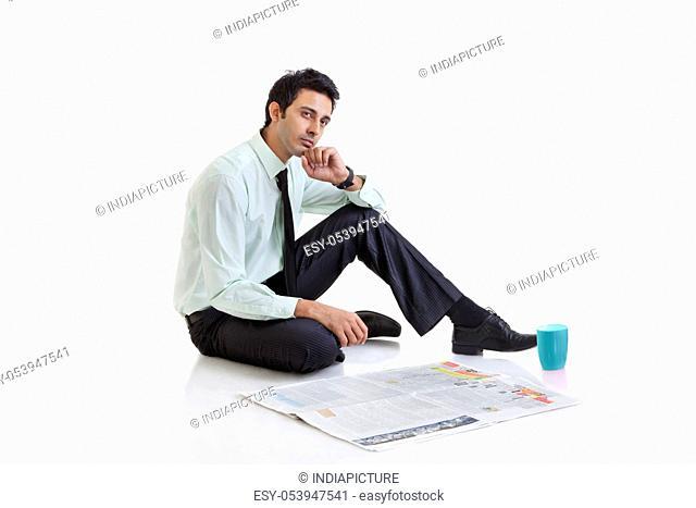 Business executive thinking