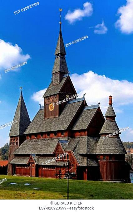 Gustav-Adolf-Stabkirche in Goslar Hahnenklee im Harz