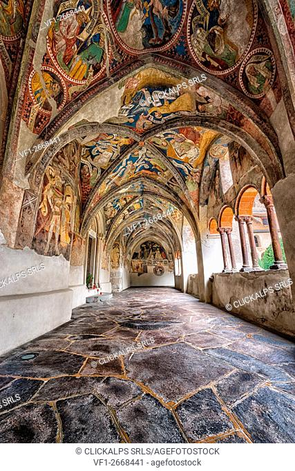 Europe, Italy,South Tyrol, Bolzano. The cloister of the Cathedral of Bressanone, Brixen