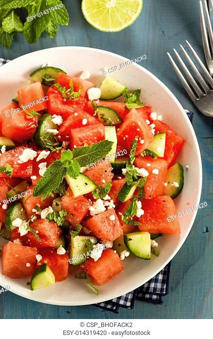 Healthy Organic Watermelon Salad