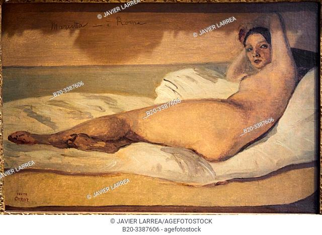 """""""""""""""Marietta"""""""", 1843, Camille Corot, Petit Palais Musée des Beaux Arts de la Ville de Paris, France, Europe"""