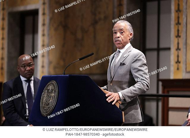 Stephen A. Schwarzman Building, News York, USA, January 11 2018- Reverend Al Sharpton Speak During Mayor Bill de Blasio Interfaith Breakfast at New York Public...