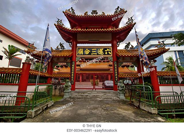 Chinese Temple Main Gate Entrance