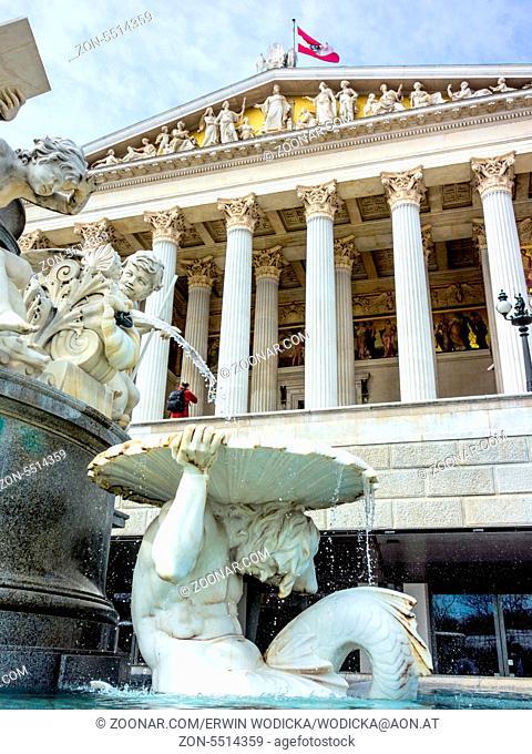 Das Parlament in Wien, Österreich in einer Aussenaufnahme
