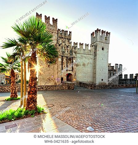 The castle of Sirmione, Lake of Garda, Sirmione center , Lombardy, Italy