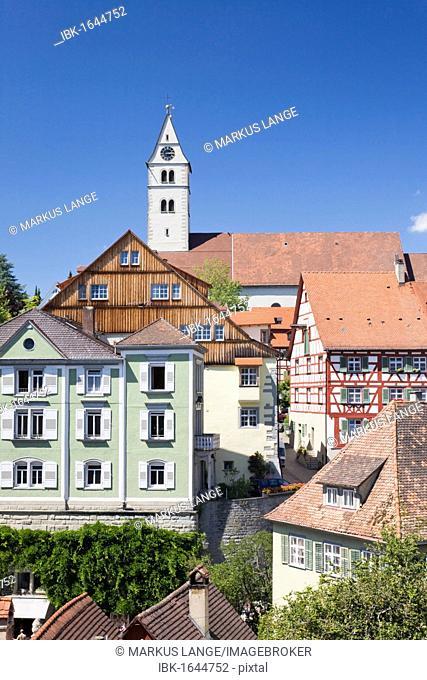 Oberstadt district in Meersburg, Lake Constance, Baden-Wuerttemberg, Germany, Europe