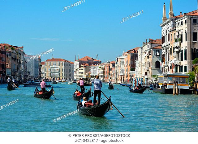 Gondola ride of the Grand canal in Venice - Italy
