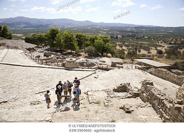 The west court, Festos, archeological area, Crete island, Greece, Europe