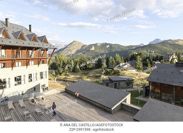 Hotel in Jaca valley Pyrenees mountains Huesca Aragon Spain