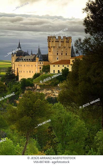 Alcazar de Segovia seen from Pinarillo, where the ancient Jewish cemetery