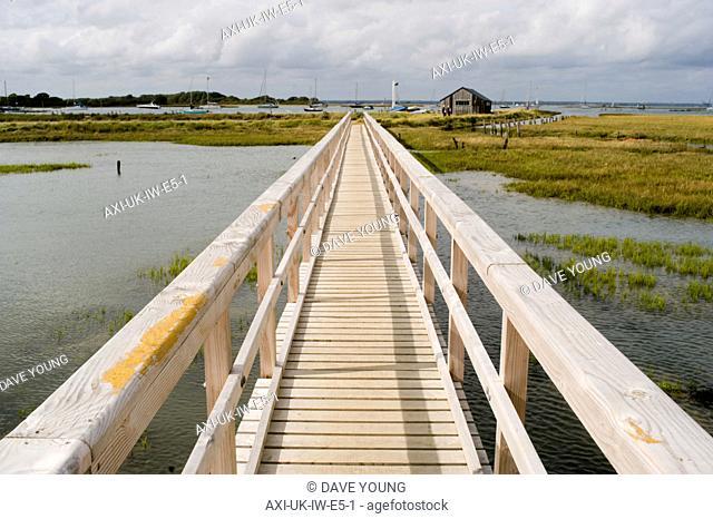 Wooden Walkway on Newtown nature reserve