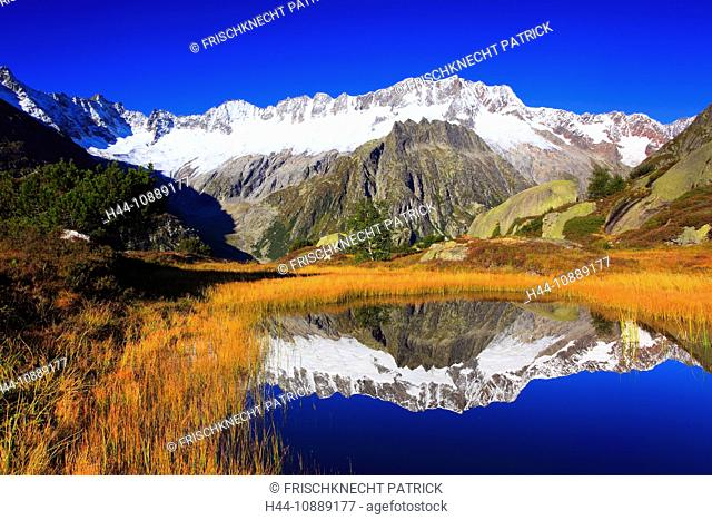 Alps, Alpine panorama, view, panorama, mountains, mountain massif, mountain panorama, mountain lake, peak, Dammastock, cliff, rock, mountains, body of water