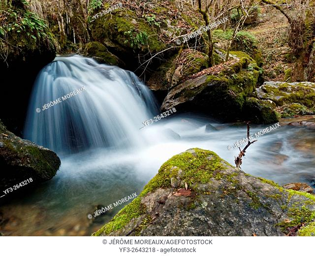 Maleval waterfall, Cantal, France