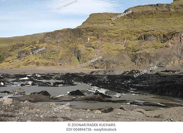 Sólheimajökull - one of the outlet glaciers glacier tongues of the Mýrdalsjökull ice cap