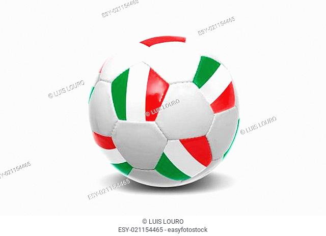 Italian flag soccer ball