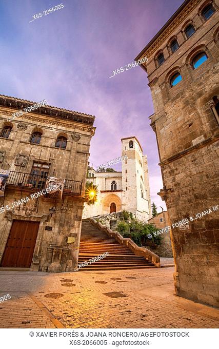 St. James way; Church of San Pedro de la Rua at Estella, Navarra, Spain