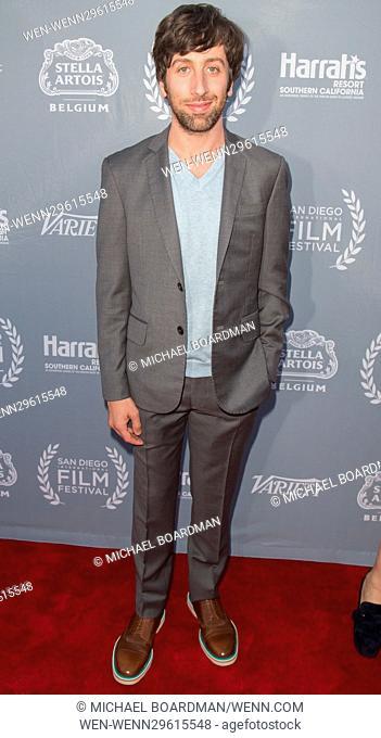 San Diego International Film Festival - Variety's Night of the Stars Tribute - Arrivals Featuring: Simon Helberg Where: San Diego , California