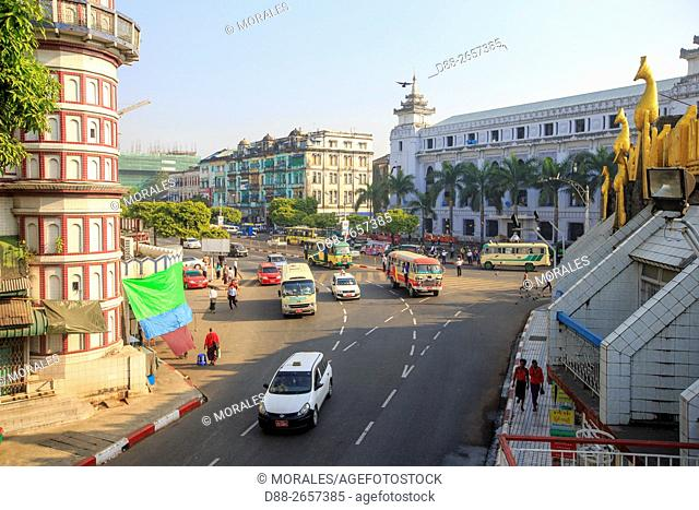 Myanmar, Yangon State, Yangon, downtown