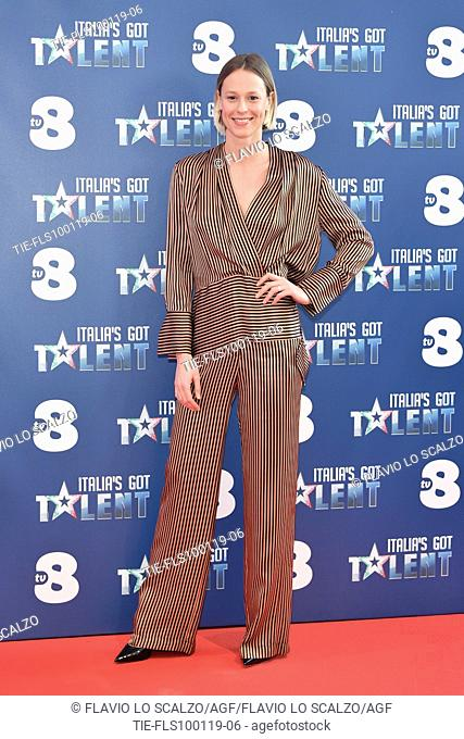 Swimmer Federica Pellegrini during the photocall of tv show Italia's Got Talent, Milan, ITALY-10-01-2019