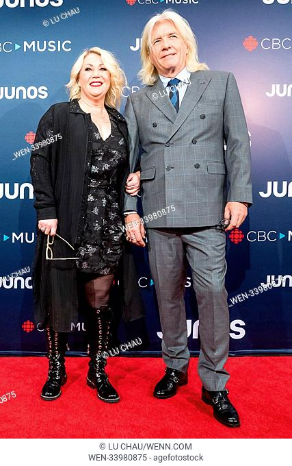 2018 JUNO Awards, held at the Rogers Arena in Vancouver, Canada. Featuring: Jann Arden, Bob Rock Where: Vancouver, British Columbia